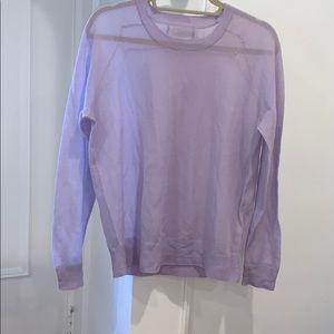 Jcrew purple cotton nylon sweater